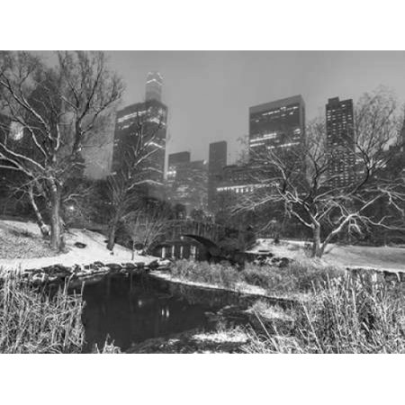 Gapstow Bridge Central park with Manhattan skyline New York Poster Print by Assaf Frank