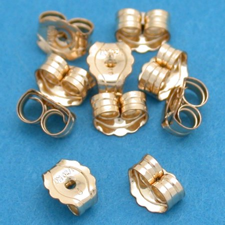 5 Pairs 14K Gold Filled Earring Backs Jewelry Ear Nuts, This is a new set of 5 pairs of 14 karat gold filled light friction earring backs By FindingKing