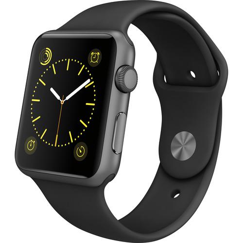 Refurbished Apple Watch Gen 1 Sport 42mm Space Gray Aluminum - Black Sport