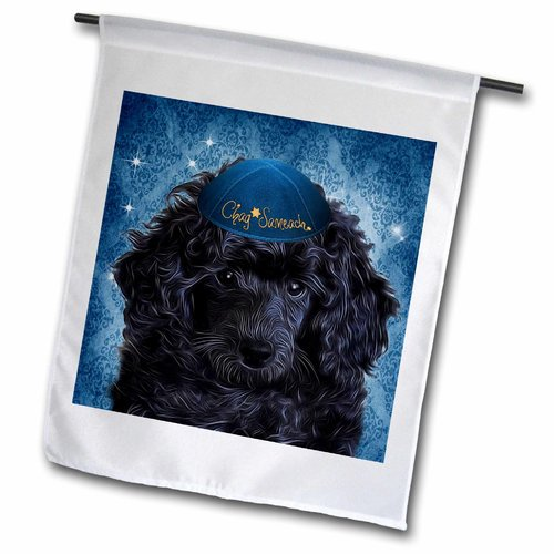 3drose Cute Toy Poodle Puppy In A Yamaka For Hanukkah In Polyester Garden Flag Walmart Com Walmart Com