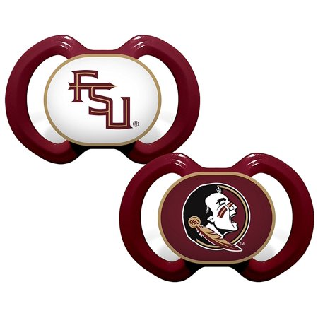 - Florida State 2-pk. Orthodontic Logo Pacifiers One Size Burgundy red, Imported By FSU