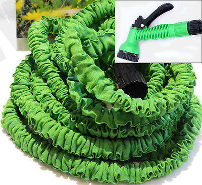 75 Foot Expanding Shrinking Retracting Water Watering Garden Hose with Nozzle