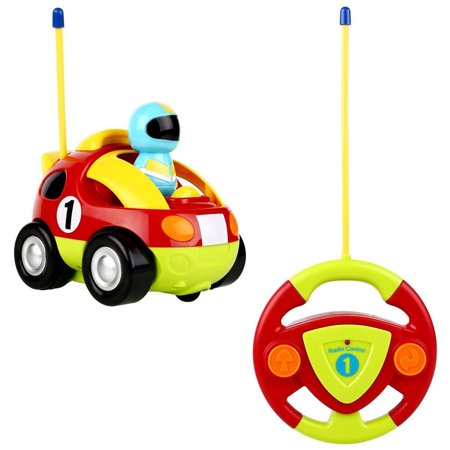 Toddler Remote Control Car Cartoon Rc Race Car Radio Control Vehicle Rc Plice Car Remote Control Toy with Music, Light for Baby Kid Boy Toddler Rc Car Toy as Children Holiday Birthday Gift