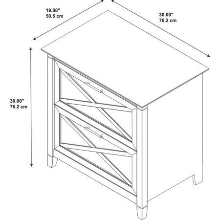 "Key West 2 Piece 54"" Single Pedestal Desk and File Cabinet Set in Washed Gray - image 8 de 17"