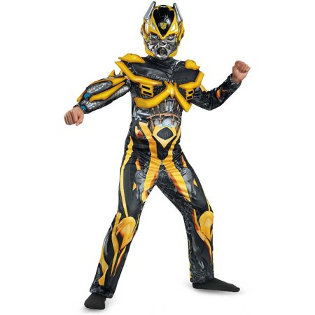 Transformers Age of Extinction Deluxe Bumblebee Boys' Child Halloween Costume](Transformer Costume)