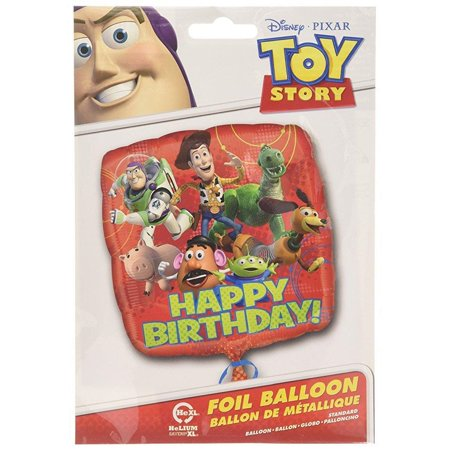 Anagram International HX Toy Story Gang Happy Birthday Packaged Party Balloons, - Toy Story Balloons
