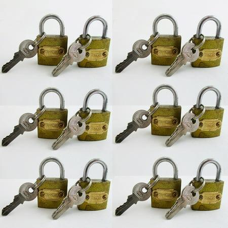 12 Small Metal Padlocks Locks Keys Heavy Duty 1