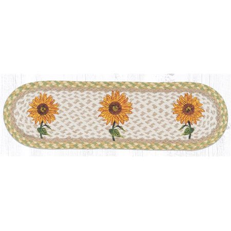 Capitol Importing 49-ST529S 27 x 8.25 in. ST-OP-529 Sunflower Oval Stair Tread Mat - image 1 de 1