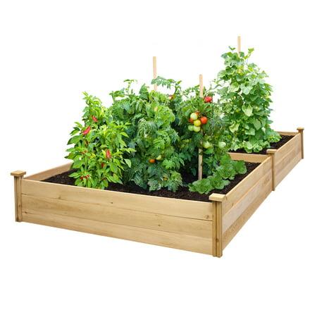 Cedar Slab - Greenes Value Cedar Raised Garden Bed 4' x 8' x 10.5