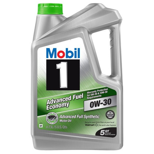 Mobil 1 0W-30 Advanced Fuel Economy Full Synthetic Motor Oil, 5 qt.