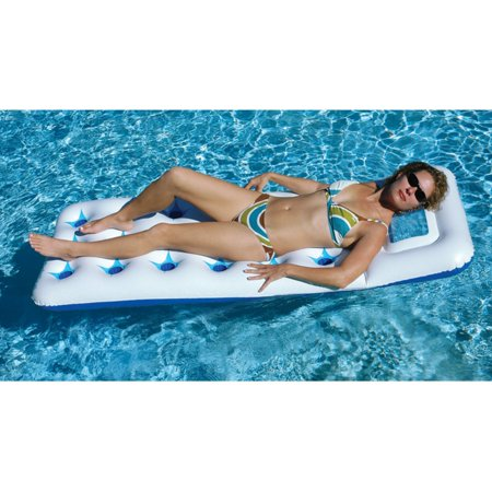 Solstice Vinyl Aquawindow Mattress Pool Float, (Solstice Store Hours)