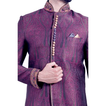 Multi Colored Indian Festivels Indo-Western Sherwani for Men. This product is custom made to order. - image 2 of 6