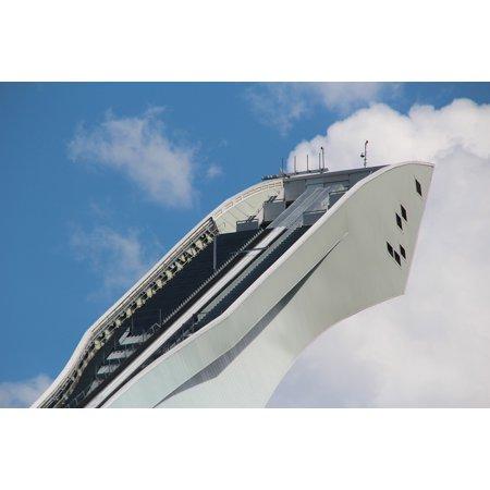Canvas Print Garmisch Partenkirchen Germany Ski Jump Hill Sky Stretched Canvas 10 x 14