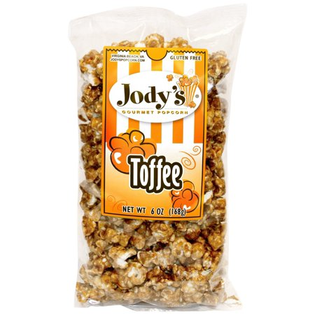 Jody's Gourmet Popcorn Toffee, 6.0 Ounce Almond Toffee Popcorn