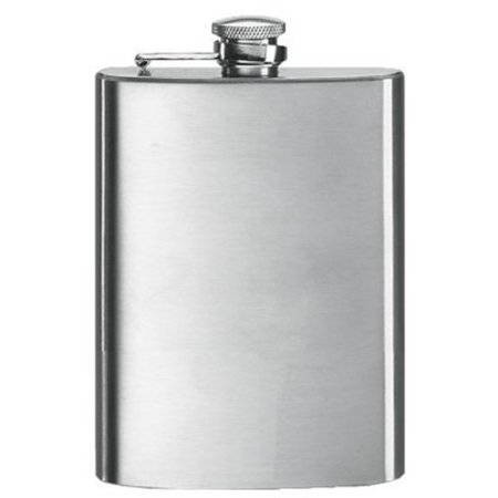 Hammered Design Hip Flask - 8 Oz Stainless Steel Hip Flask