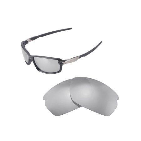 Walleva Titanium Polarized Replacement Lenses for Oakley Carbon Shift (Titanium Sunglasses Men)