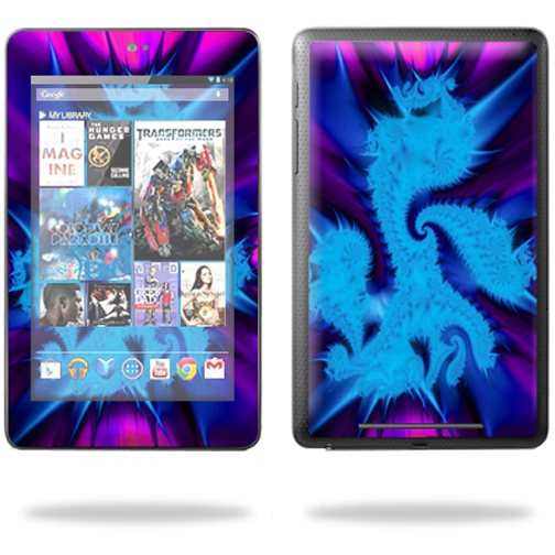 "Mightyskins Protective Skin Decal Cover for Google Nexus 7 tablet 7"" inch screen stickers skins Fractal Abstract"