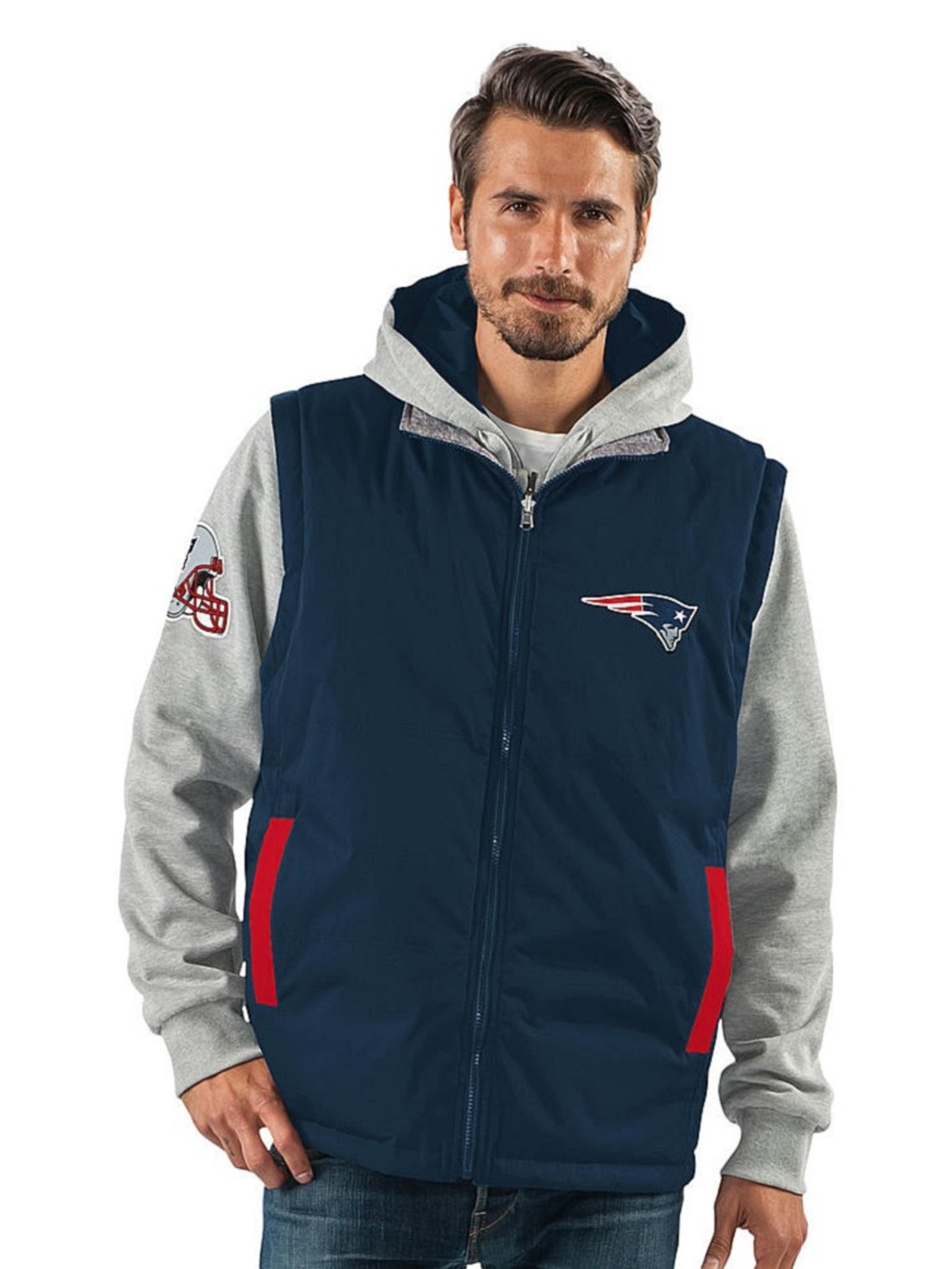New England Patriots N-FL Mens 8-in1 Systems Jacket by