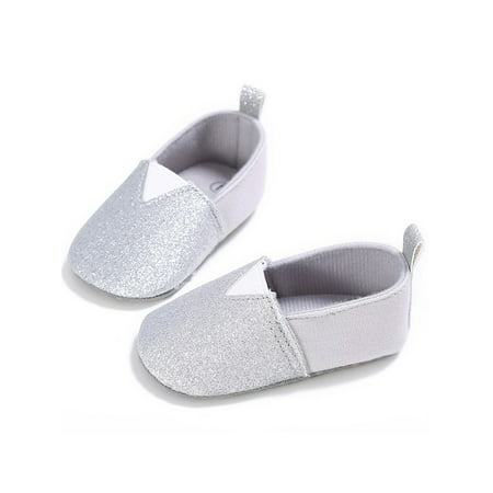 Infant Baby Girl Soft Soled Crib Shoes Kid Summer Slip-on Sneaker ()