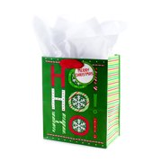 hallmark medium christmas gift bag with tissue paper ho ho ho