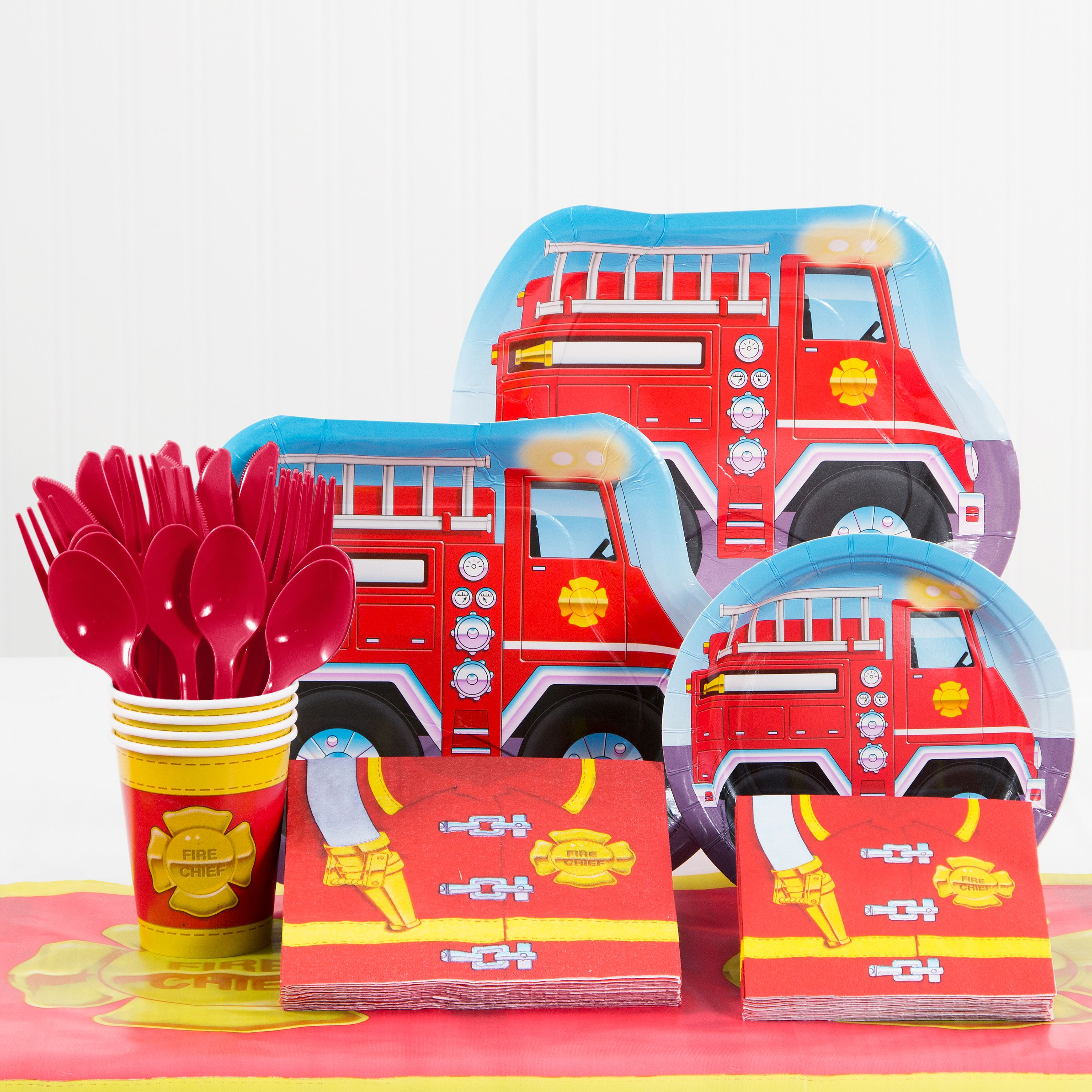 Firefighter Birthday Party Supplies Kit