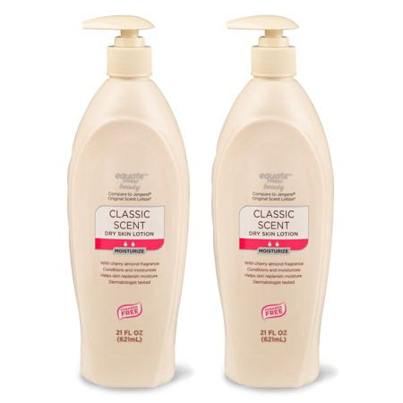 (2 Pack) Equate Beauty Dry Skin Lotion, Classic Scent, 21 Oz