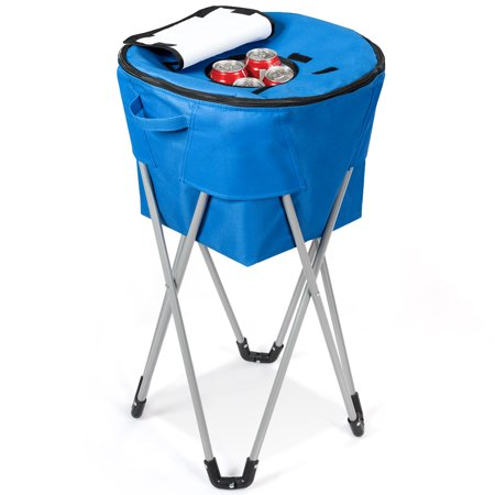 Topbuy Portable Insulated Tub Cooler W Folding Stand