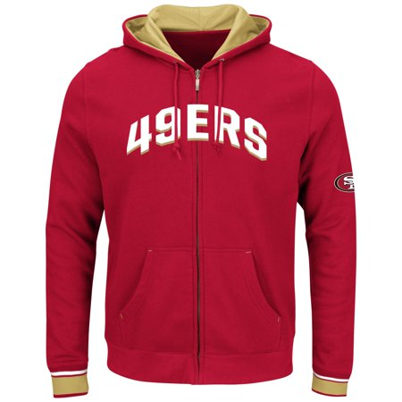 San Francisco 49ers Majestic NFL Anchor Point 2 Men's Full Zip Hooded Sweatshirt