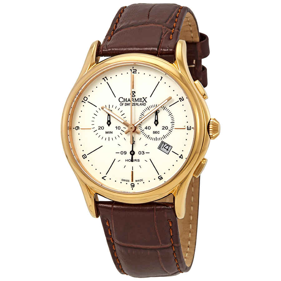 CHARMEX Silverstone Chronograph White Dial Men's Watch
