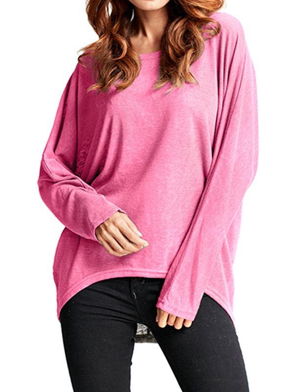 Women's Batwing Sleeve Loose Knitted Blouses