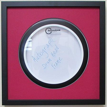 14 drum head display frame set black frame dark red matting easy mount dark red black trim. Black Bedroom Furniture Sets. Home Design Ideas