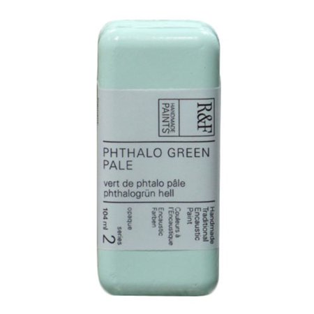R&F Handmade Paints Encaustic Paint Cake, Phthalo Green Pale Pale Green Pants