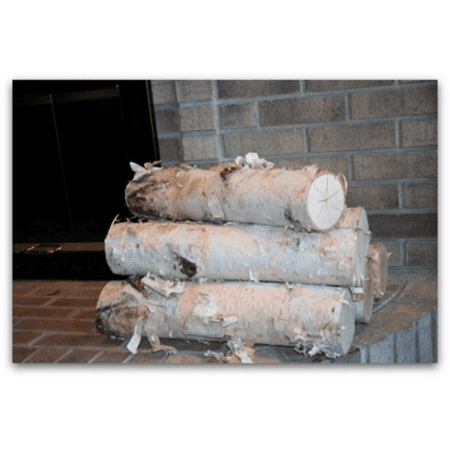 Bronze Fireplace Log - Large Fireplace White Birch Logs (5 logs) 18