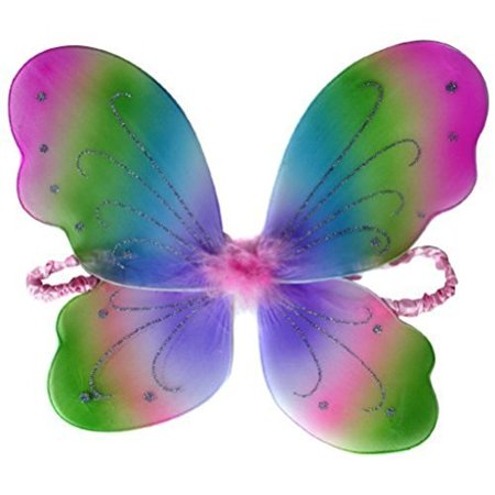 Kids and Toddler Rainbow Fairy Costume Wings - Rainbow Fairy Costumes