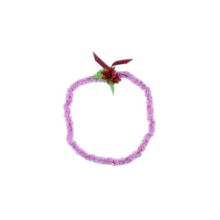 Hawaii Luau Party Pikake Cute Artificial Fabric Floral Single Color Tuberose Lei in Pink - Artificial Hawaiian Leis