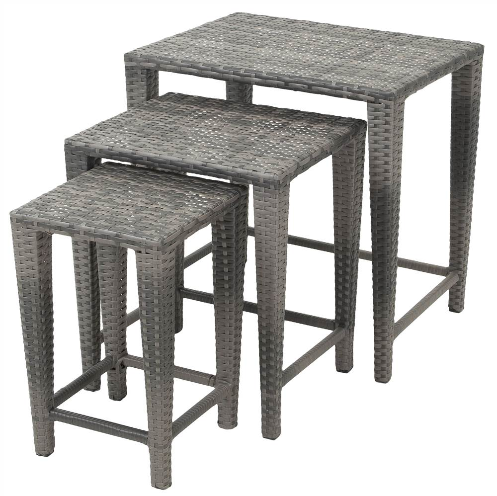3-Pc Nesting Table Set in Grey