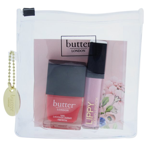 Butter London Pink Pops Lip Amp Tips Collection By Butter London 2 Pc Kit 0 2oz Lippy Liquid