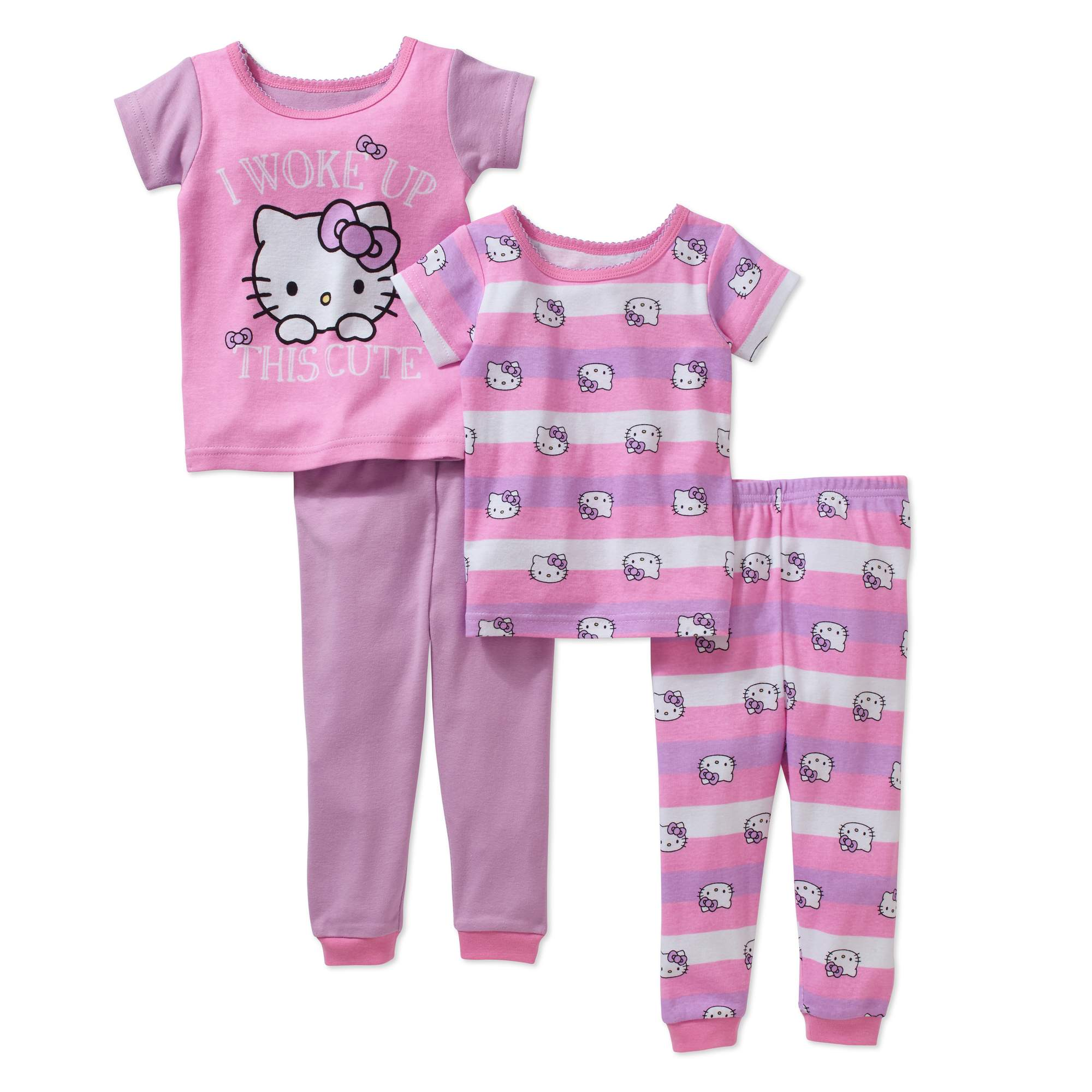 Hello Kitty Baby Girl's Licensed Cotton 4-Piece Set