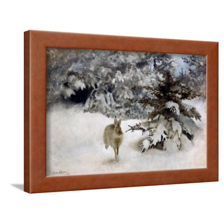 A Hare in the Snow, 1927 Framed Print Wall Art By Bruno Andreas Liljefors