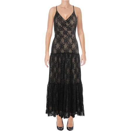 Taylor Womens Metallic Lace Evening - Corey Taylor Jumpsuit