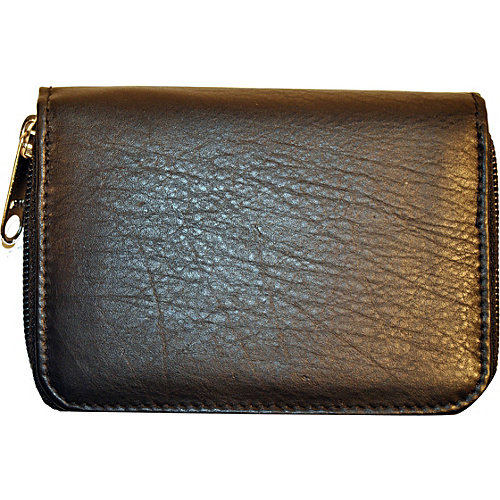 Budd Leather RFID Zipper Credit Card Wallet