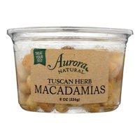 Aurora Natural Products 2465169 8 oz Tuscan Herbal Macadamia Nuts, Case of 12