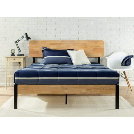 Zinus Olivia Metal Amp Wood Platform Bed With Wood Slat