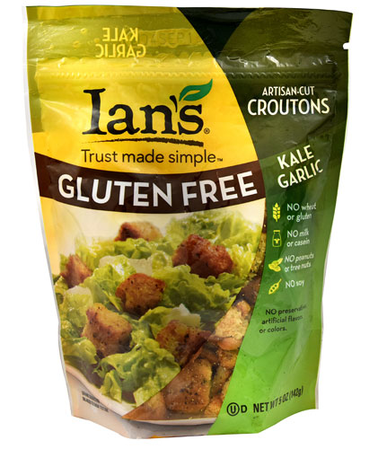 Ian's Natural Foods All Natural Gluten Free Croutons Kale Garlic -- 5 oz pack of 1 by Ian'S Natural Foods