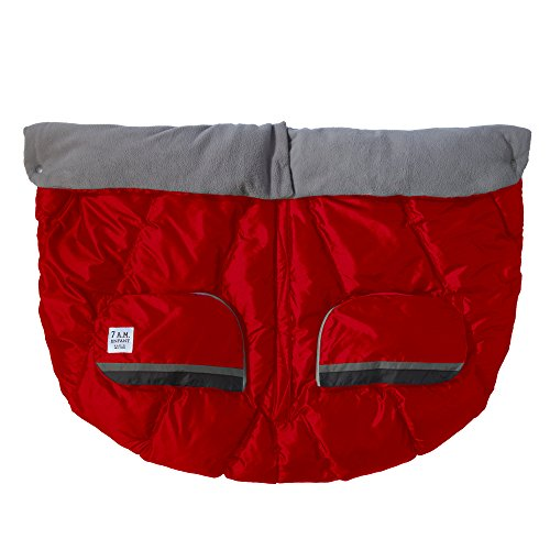 7 A.M. 7AM Enfant Duo Double Stroller Blanket, Red