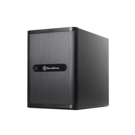 Silver Stone Technologies DS380B Rackmount Storage Server Chassis Premium Mini-ITX DTX Small Form Factor NAS Computer Cases - (Best Mini Itx Nas Case)