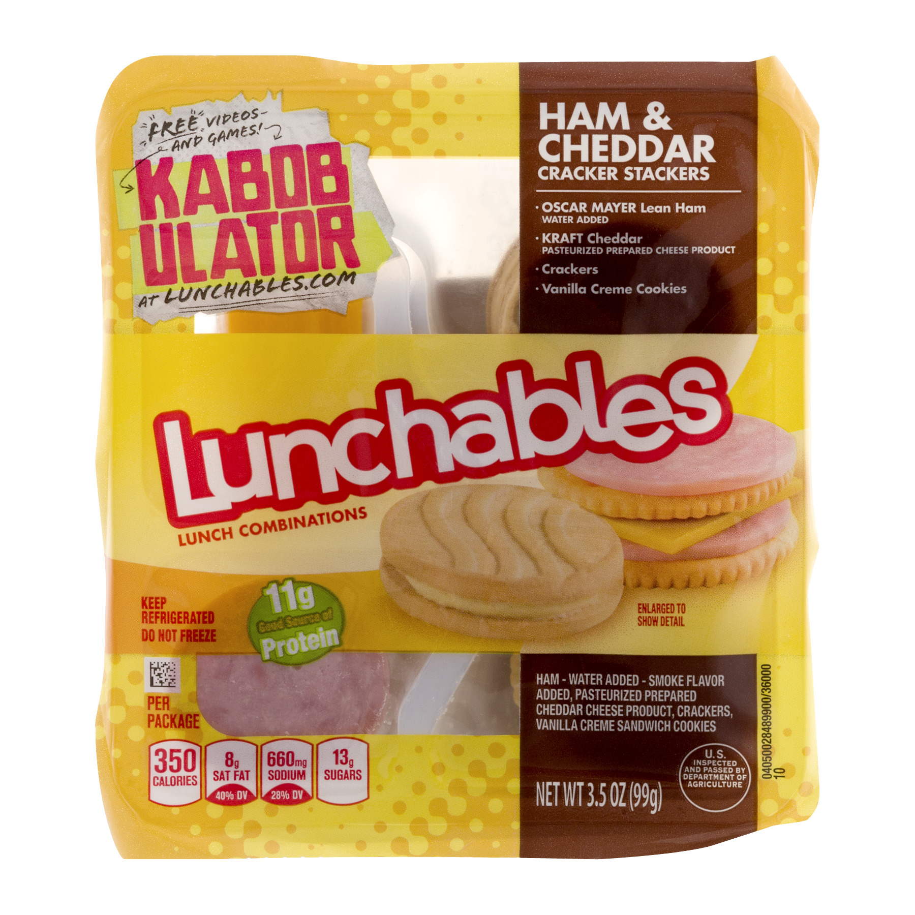 Lunchables Ham & Cheddar Cracker Stackers Lunch Combination 3.5 oz. Tray
