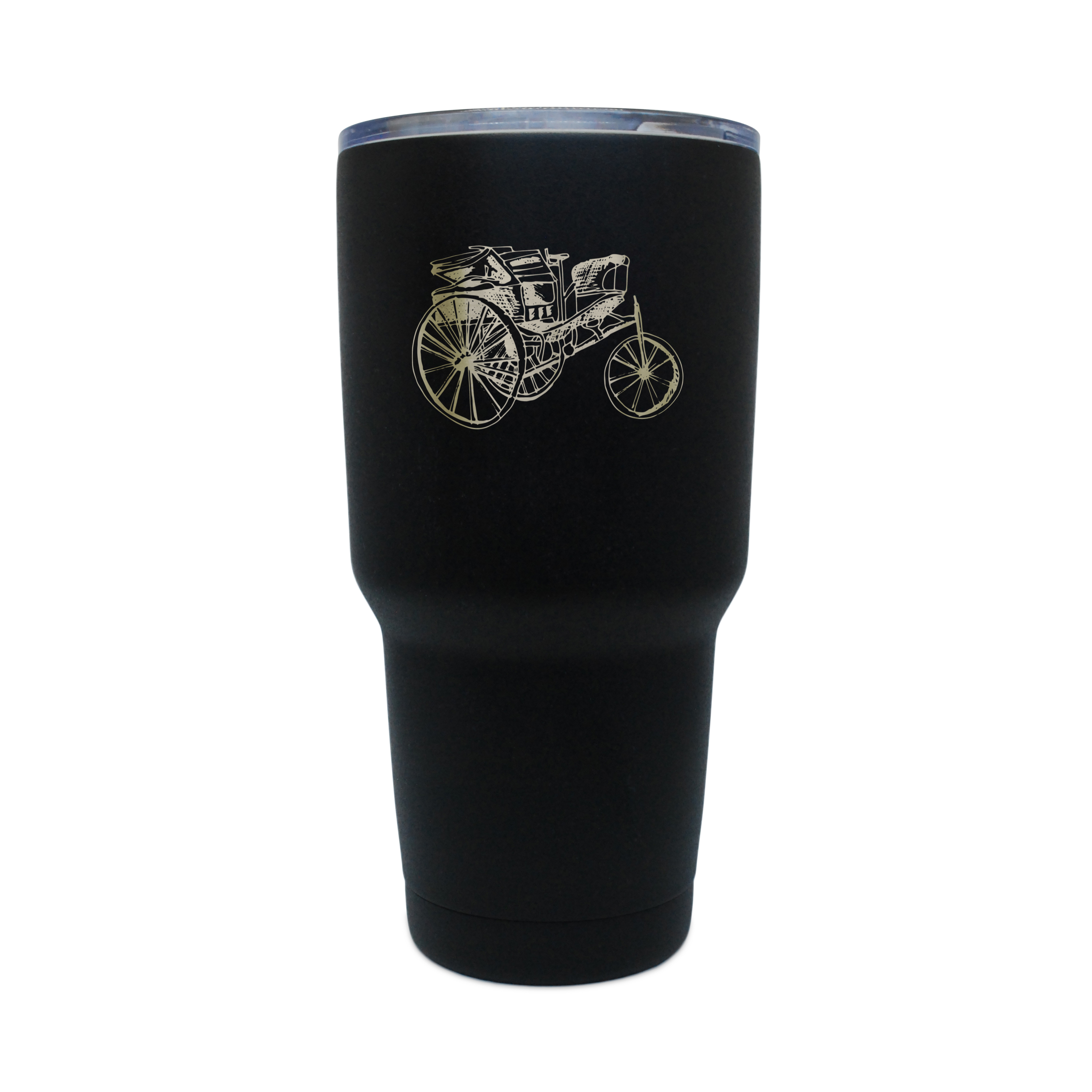 First Car Black Stainless Steel Tumbler, 30 Oz Insulated Tumbler, Laser Etched In Usa