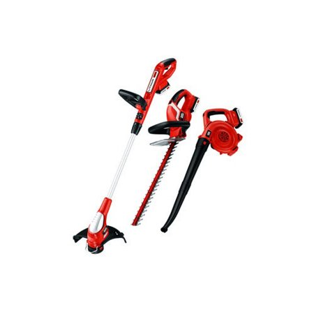 Image of BLACK+DECKER LC3K220 20V MAX Cordless Lithium-Ion Grass Trimmer, Sweeper and Hedge Trimmer Combo Kit