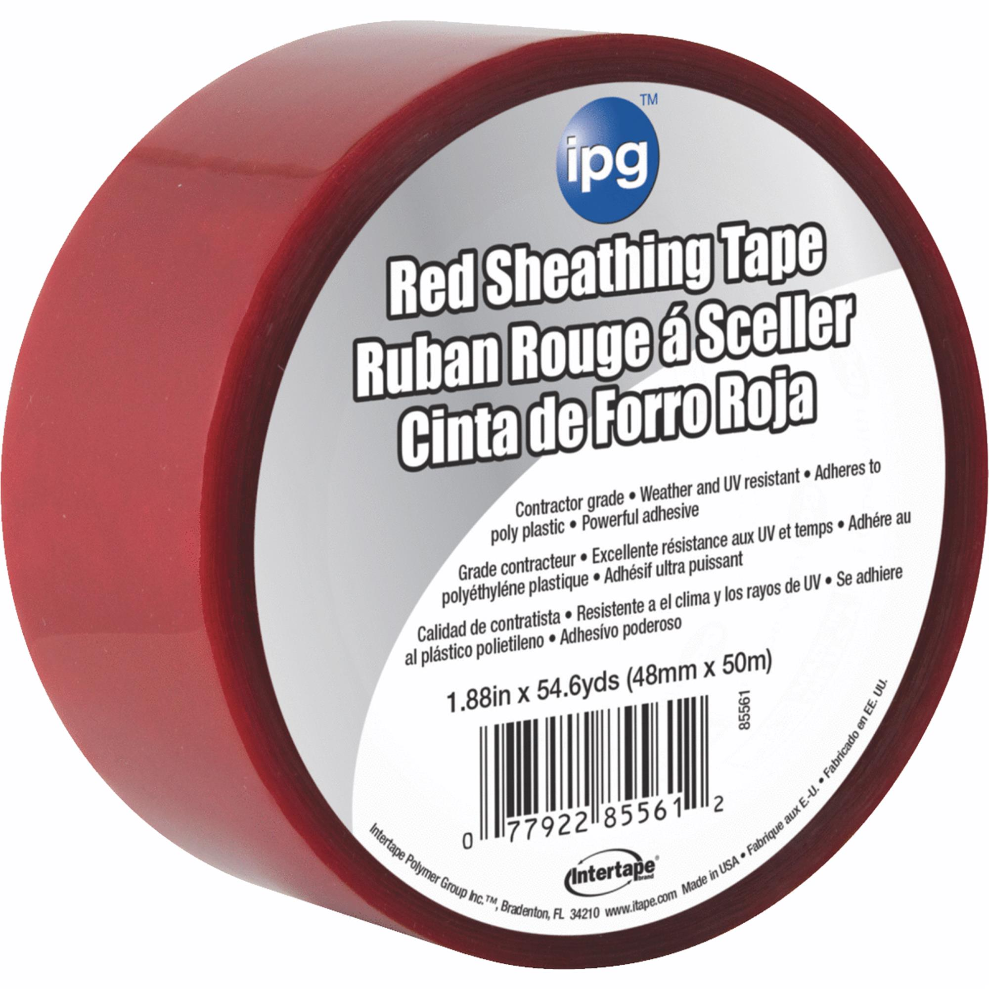 "Intertape Intertape Polymer Red Sheathing Tape, 2"" x 55 yds"